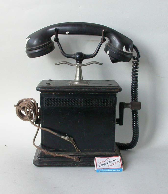 altes telefon telefonapparat h rer tischtelefon kurbeltelefon telephon tekade ebay. Black Bedroom Furniture Sets. Home Design Ideas